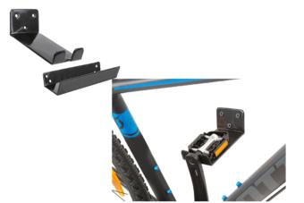 Крепление велосипеда на стену за педаль
